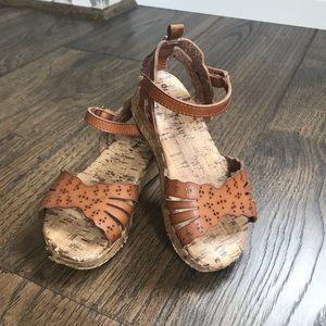 Old Navy Girls Size 8 Faux Cork Platform Sandal